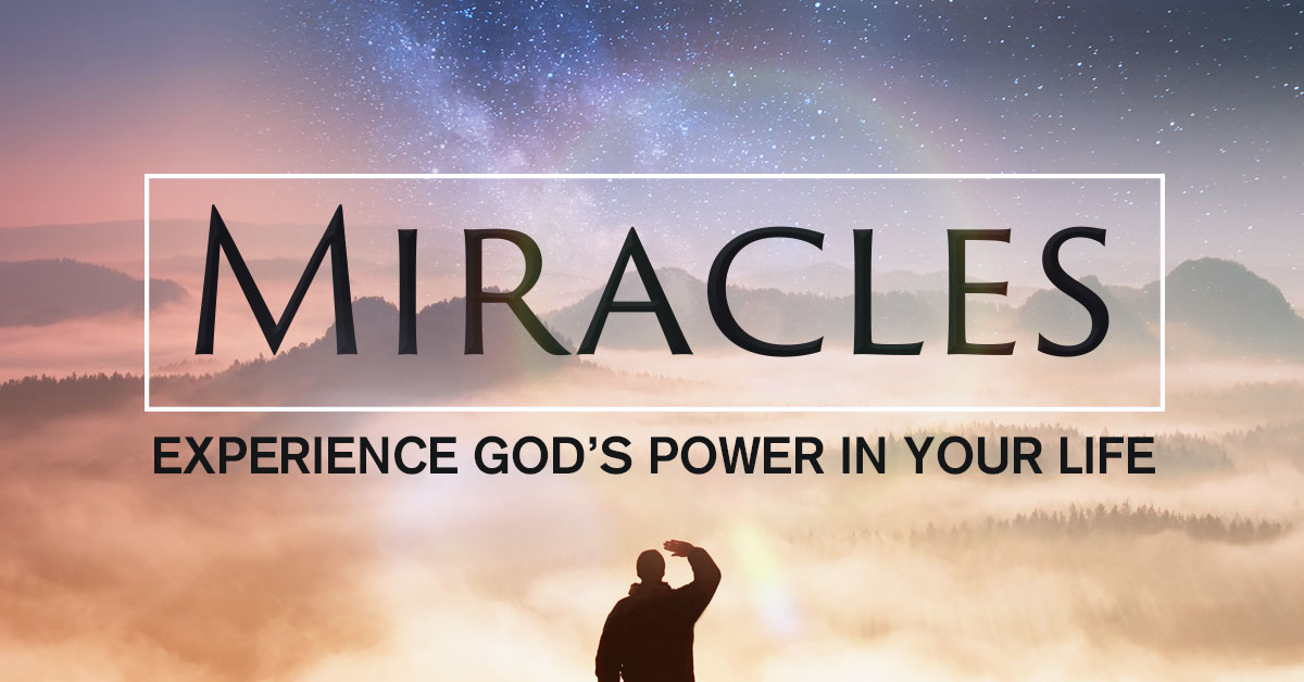 If you want to see the Miracle start walking by Faith